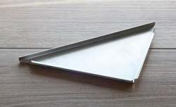 Duschablage Edelstahl V2A gebürstet dreieckig 200 x 200mm