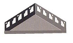 Duschablage Edelstahl gebürstet dreieckig 220 x 220mm
